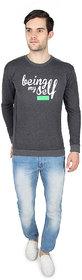 Threads  Pals Gray Round Neck Sweatshirt for Men