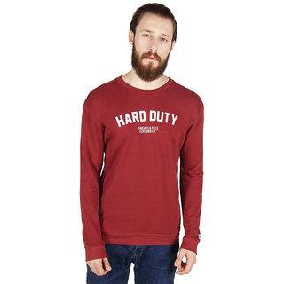 Threads & Pals Red Round Neck Sweatshirt for Men