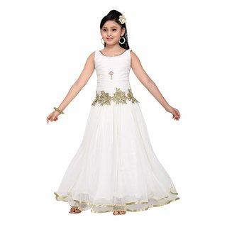 b469f9ef8 Buy Aarika Girls Blue Self Design Net Gown Online - Get 85% Off