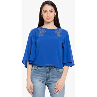 Tarama Blue Plain Top