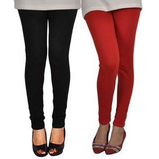 Super Comfy Muli Color Woolen Leggings From Luba - Pack Of 2