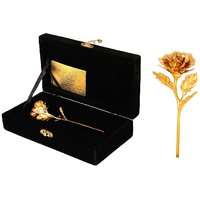 Daily Deals Online 24K Gold Rose With Velvet Gift Box