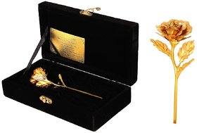 Daily Deals Online 24K Gold Rose With Velvet Gift Box