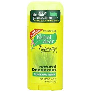 21st Century Herbal Clear Deodorant, Aloe Fresh, 2.65-Ounce
