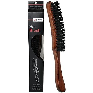SmartCare Solid Wood Hat Brush With Sturdy Bristles