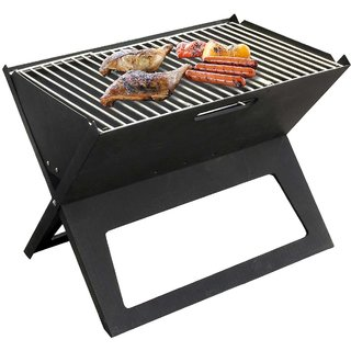 Folding Portable BBQ Grill Picnic Camping Foldable Barbecue Charcoal Set