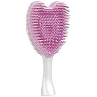 Tangle Cherub Hair Brush - Kind And Gentle Compact Detangler For Wet And Dry Hair - Ergonomic Shape With Heat Resistant Antibacterial Bristles - For All Hair Types - Pearl White