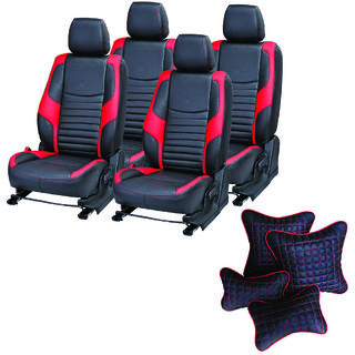Pegasus Premium Seat Cover for Hyundai Verna Fluidic  With Neck Rest And Pillow/Cushion