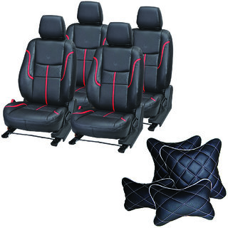 Pegasus Premium Seat Cover for Mahindra KUV 100  With Neck Rest And Pillow/Cushion