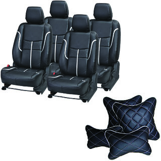 Pegasus Premium Seat Cover for Toyota Corolla Altis  With Neck Rest And Pillow/Cushion