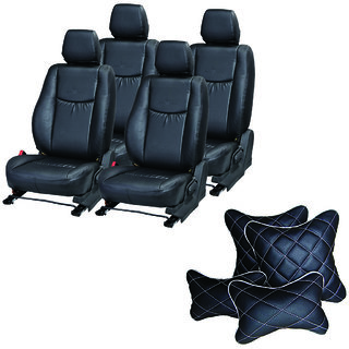 Pegasus Premium Seat Cover for Hyundai Verna  With Neck Rest And Pillow/Cushion