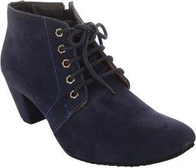 Exotique Women's Blue Casual Boot (EL0040BL)