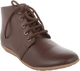 Exotique Women's Brown Casual Boot (EL0051BR)