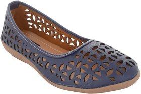 Exotique Women's Blue Ballerina Shoe (EL0056BL)