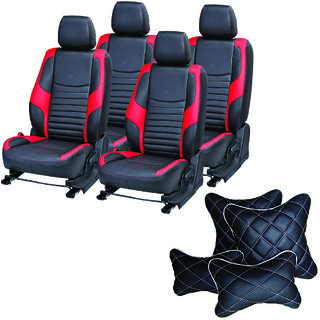 Pegasus Premium Seat Cover for Chevrolet Aveo  With Neck Rest And Pillow/Cushion