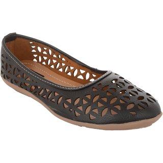Exotique Women's Black Ballerina Shoe (EL0056BK)