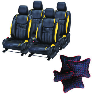Pegasus Premium Seat Cover for Mahindra XUV 500  With Neck Rest And Pillow/Cushion