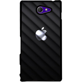 Ayaashii Apple Logo In  Black Background Back Case Cover for Sony Xperia M2 Dual D2302::Sony Xperia M2