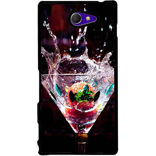 Ayaashii Wine Glass Back Case Cover for Sony Xperia M2 Dual D2302::Sony Xperia M2