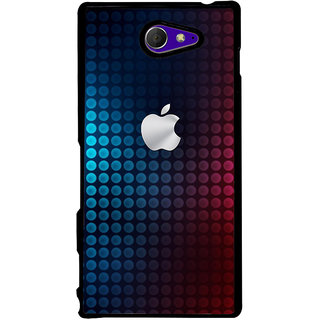 Ayaashii Apple Logo  Back Case Cover for Sony Xperia M2 Dual D2302::Sony Xperia M2