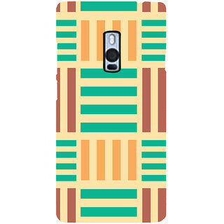 Ayaashii Horizontal Vertical Stripes Back Case Cover for One Plus Two::One Plus 2::One+2