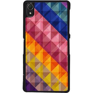 Ayaashii Diamond Pattern Back Case Cover for Sony Xperia Z2::Sony Xperia Z2 L50W D6502 D6503