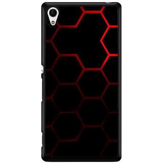 Ayaashii Hexagon Pattern Back Case Cover for Sony Xperia Z4 Mini::Sony Xperia Z4 Compact