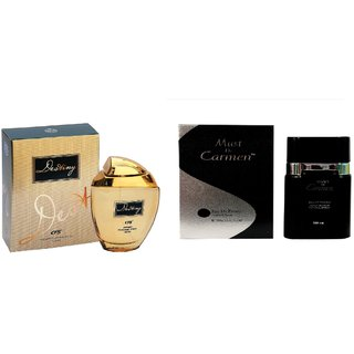 CFS Exotic Destiny Gold And Must De Carmen Red combo Perfume 200ML