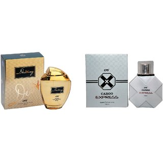 CFS Exotic Destiny Gold And  Cargo Express White  Combo Perfume 200ML