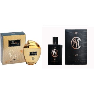 CFS Exotic Destiny Gold And NYC Black Combo Perfume 200ML