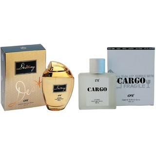 CFS Exotic Destiny Gold And Cargo White Combo Perfume 200ML