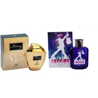 CFS Exotic Destiny Gold And Rocking White Combo Perfume 200ML