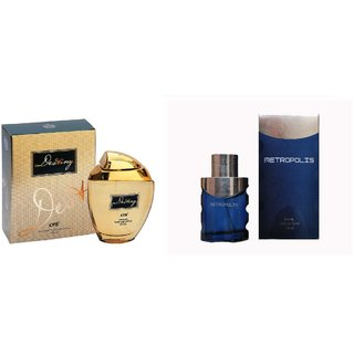 CFS Exotic Destiny Gold And Metropolis  Blue Combo Perfume 200ML