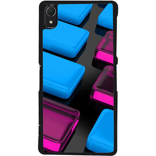 Ayaashii Colorful Cube Crystals Back Case Cover for Sony Xperia Z3::Sony Xperia Z3 D6653 D6603
