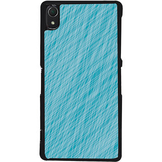 Ayaashii Blue Colored Pattern Back Case Cover for Sony Xperia Z3::Sony Xperia Z3 D6653 D6603