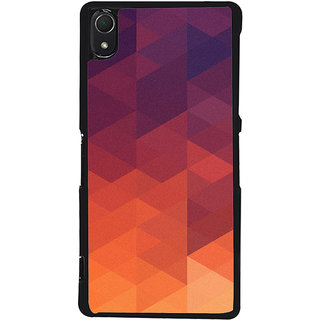Ayaashii Orange Design Back Case Cover for Sony Xperia Z3::Sony Xperia Z3 D6653 D6603