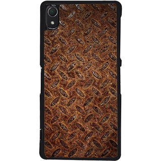 Ayaashii Brown Clored Pattern Back Case Cover for Sony Xperia Z3::Sony Xperia Z3 D6653 D6603