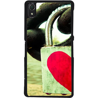 Ayaashii Lock To The Chain Back Case Cover for Sony Xperia Z2::Sony Xperia Z2 L50W D6502 D6503