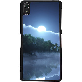 Ayaashii Blue Scenary Back Case Cover for Sony Xperia Z2::Sony Xperia Z2 L50W D6502 D6503