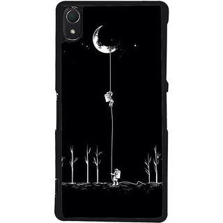 Ayaashii Astronauts Are Climbilng To Moon  Back Case Cover for Sony Xperia Z2::Sony Xperia Z2 L50W D6502 D6503