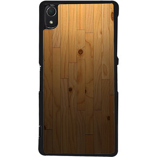 Ayaashii Wooden Pattern Back Case Cover for Sony Xperia Z3::Sony Xperia Z3 D6653 D6603