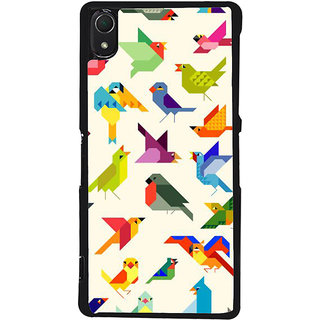 Ayaashii Birds Pattern Back Case Cover for Sony Xperia Z2::Sony Xperia Z2 L50W D6502 D6503
