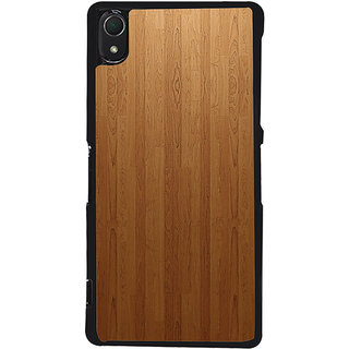 Ayaashii Brown Shaded Wood Back Case Cover for Sony Xperia Z2::Sony Xperia Z2 L50W D6502 D6503
