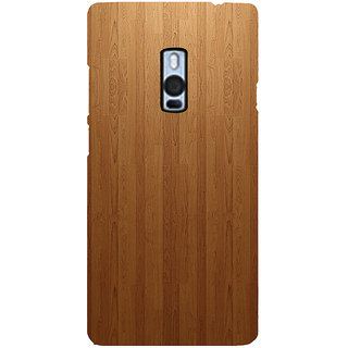 Ayaashii Brown Shaded Wood Back Case Cover for One Plus Two::One Plus 2::One+2