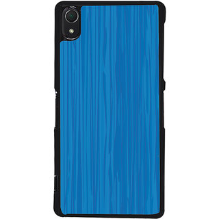 Ayaashii Blue Layered Pattern Back Case Cover for Sony Xperia Z2::Sony Xperia Z2 L50W D6502 D6503