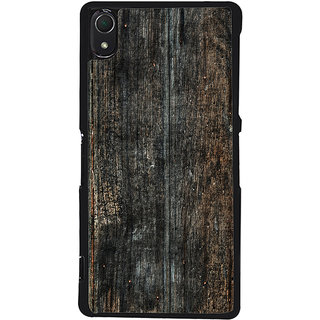 Ayaashii Old Wood Shaded Pattern Back Case Cover for Sony Xperia Z2::Sony Xperia Z2 L50W D6502 D6503