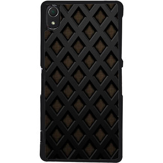 Ayaashii Grill Pattern Back Case Cover for Sony Xperia Z3::Sony Xperia Z3 D6653 D6603