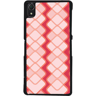 Ayaashii Square Pattern Back Case Cover for Sony Xperia Z2::Sony Xperia Z2 L50W D6502 D6503