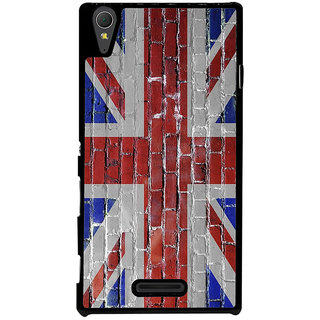 Ayaashii England Flag Back Case Cover for Sony Xperia T3