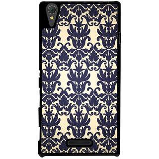 Ayaashii Floral Design Pattern Back Case Cover for Sony Xperia T3